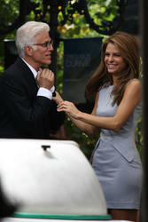 Maria Menounos - 'Extra' Interviewing Ted Danson at The Grove in Los Angeles; Sept 25 2012