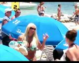 Linda Hogan at the beach - 07/20/2008 (Video)